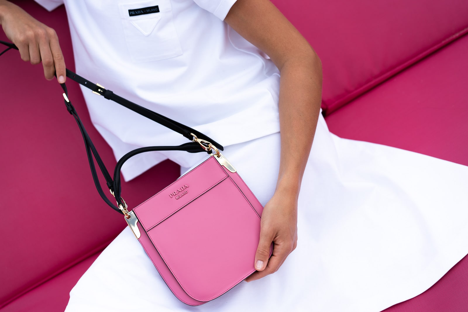 be7a71b9c8a9 Prada Pink Margit Bag | Stanford Center for Opportunity Policy in ...