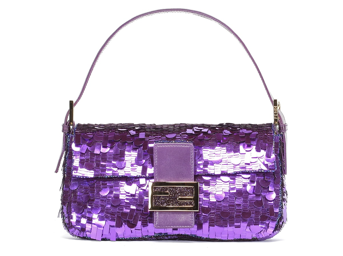 The Iconic Purple Sequin Fendi Baguette is Available For Pre-Order
