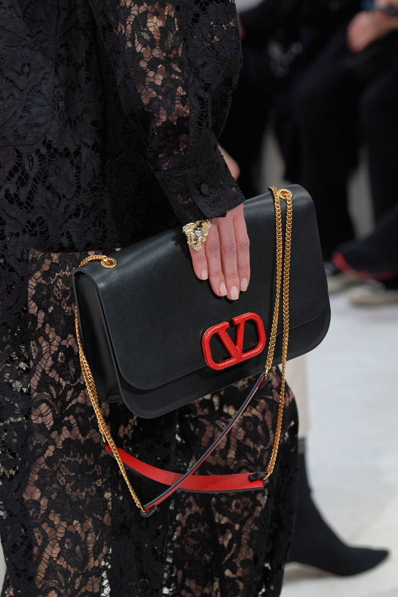 Valentino Continues to Push Its New Logo Bags for Fall