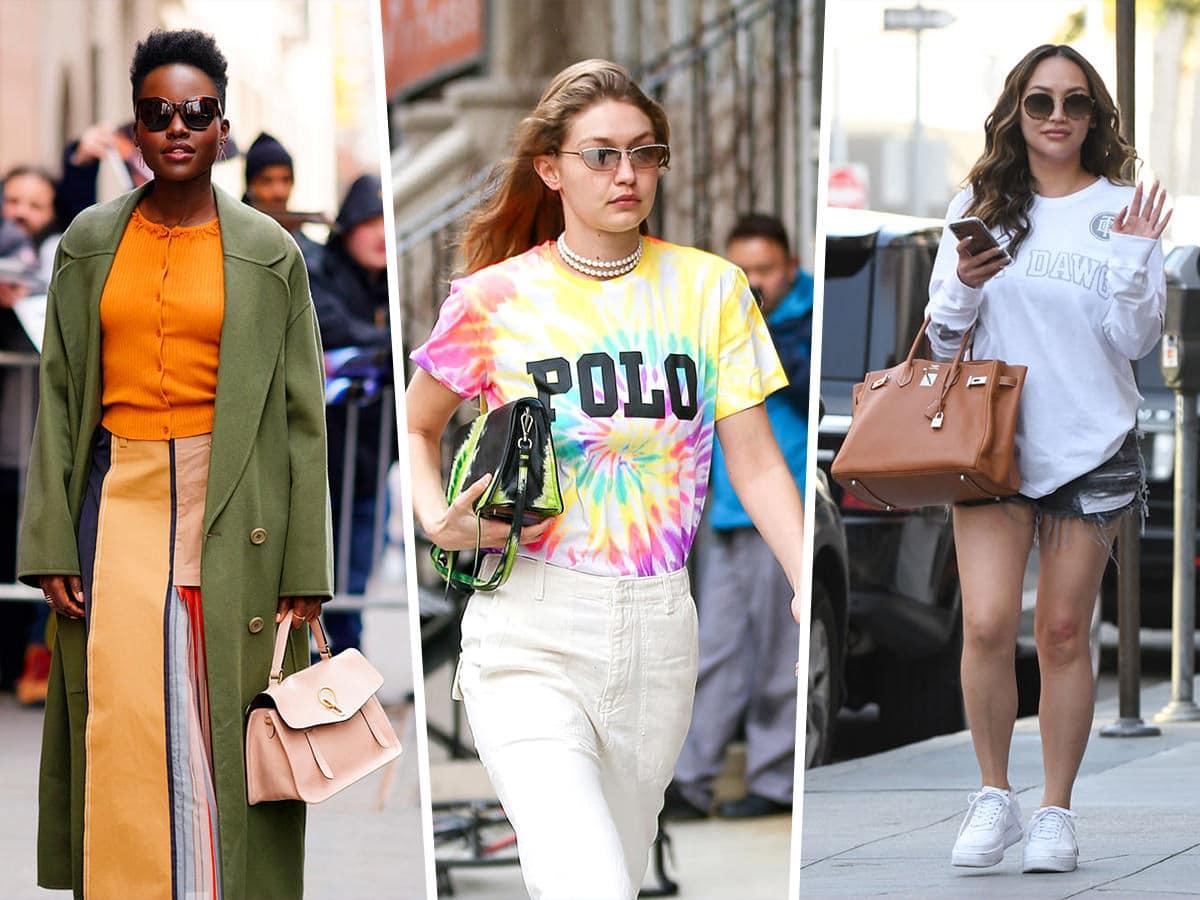 3027fd98b44169 Tie-Dye Prada and Rainbow Valentino Lead a Colorful Pack of Celeb Bag Picks