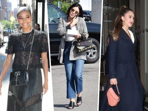 Celebs Drum Up Some Hype For New Projects with Bags from Valentino, Balenciaga and More