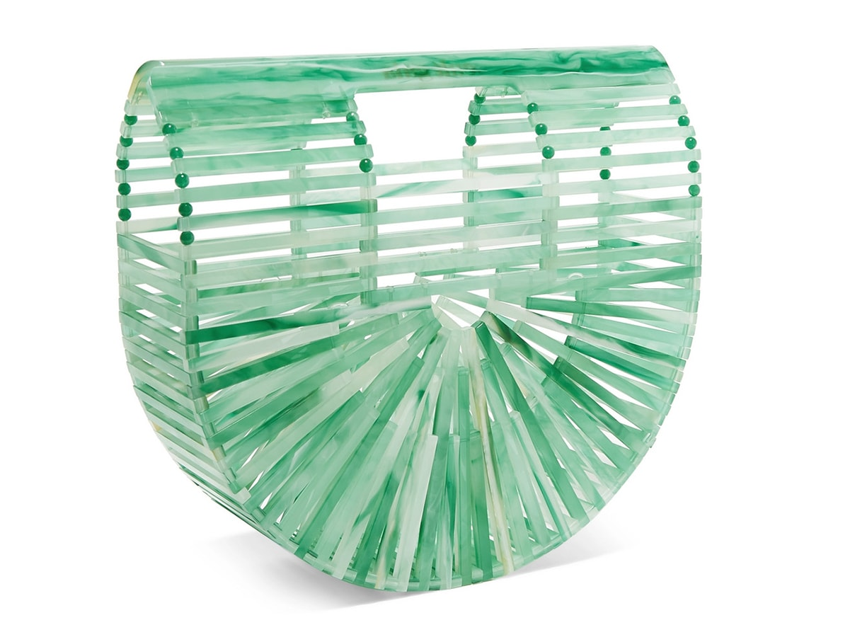 Cult Gaia Ark Mini Marbled Acrylic Clutch