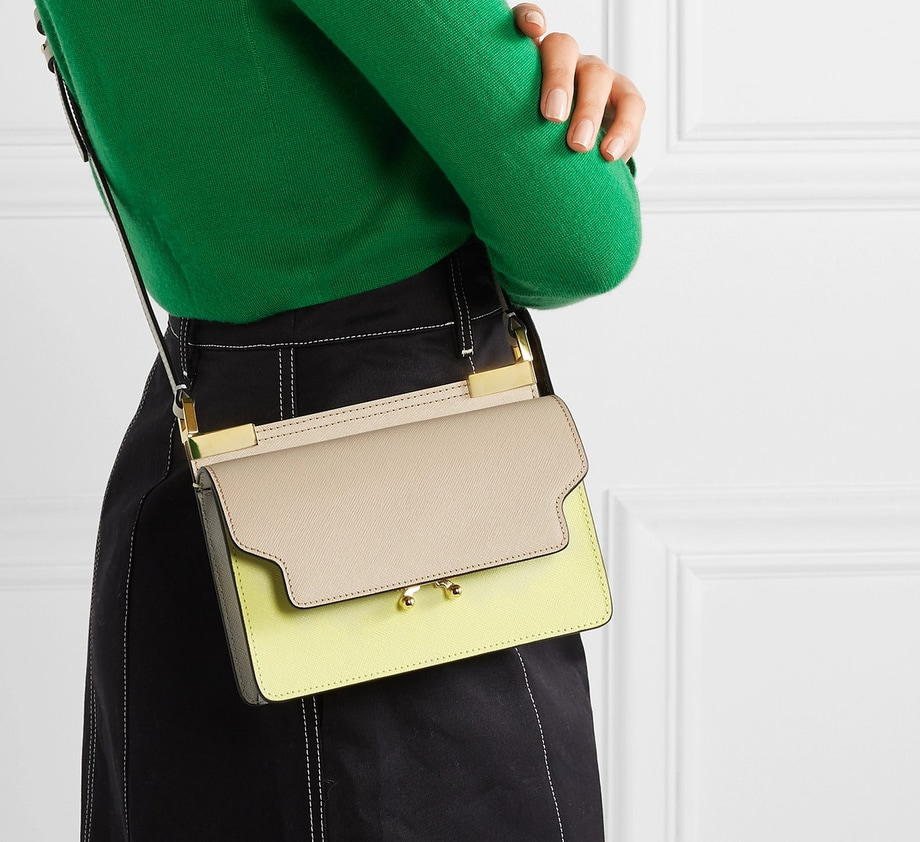 Marni Trunk Micro Color-Block Shoulder Bag