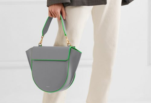 Wandler Hortensia medium neon-trimmed leather shoulder bag
