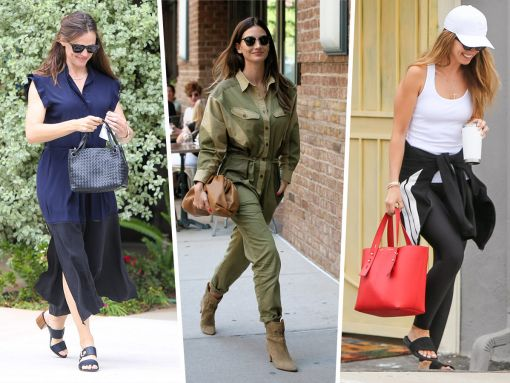 Celebs See Stars with Bright Red Bags from Prada and Frame