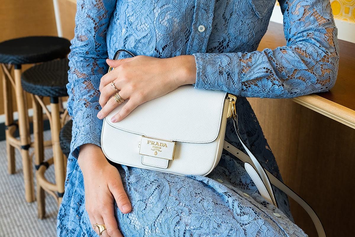 Prada Embleme Bag in White