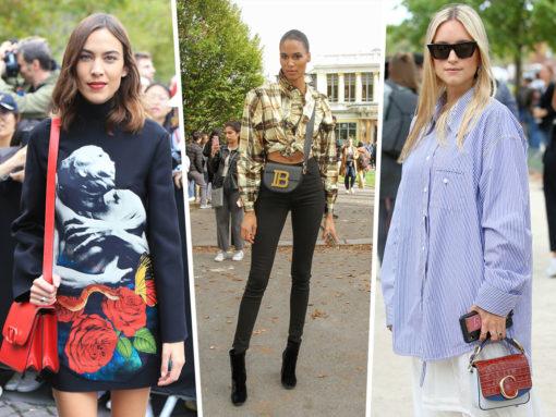 Celebs Bring Balmain, Valentino and Chloé to Paris Fashion Week