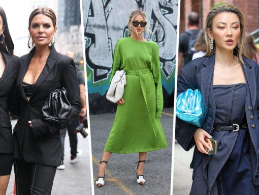 Basically Everyone Carried Bottega Veneta's The Pouch at NYFW