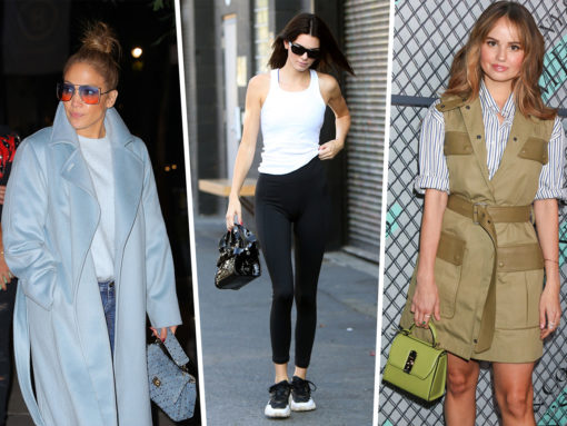 Celebs Enjoy Ideal Lighting with Bags from Longchamp, Valentino and Ferragamo