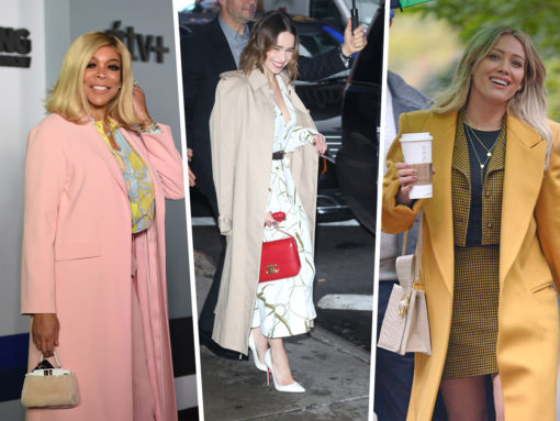 Celebs Get in the Holiday Spirit with Bags from The Row, Celine and Fendi