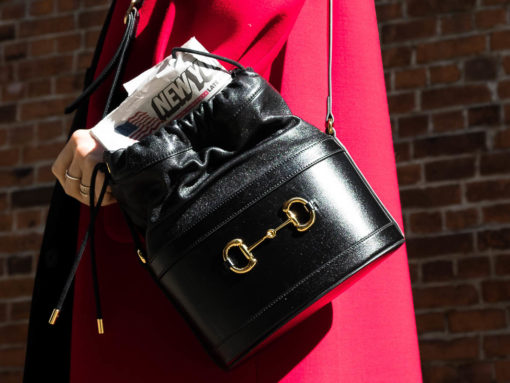 Introducing the Gucci 1955 Horsebit Bucket Bag