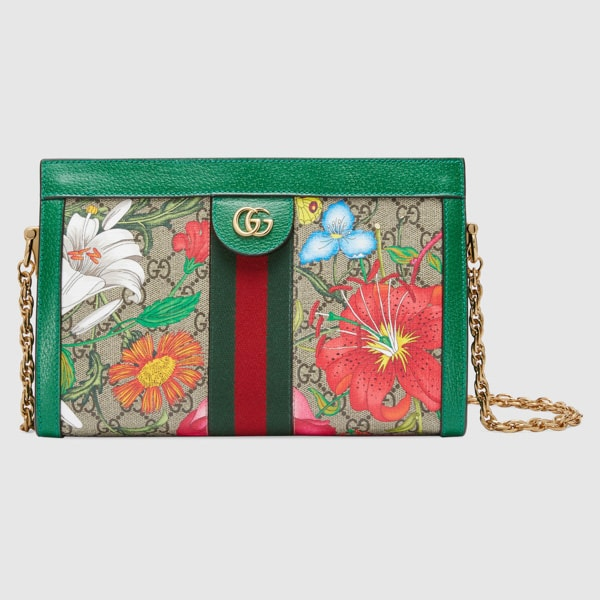 Gucci Ophidia GG Flora small shoulder bag Chain Strap