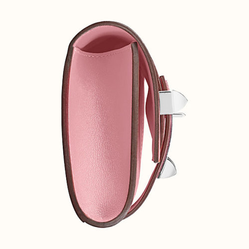 Medor 23 Clutch in Rose Sakura Swift, Side View