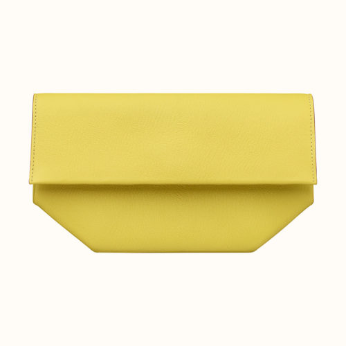 Opli Clutch in Lime Chevre. Photo courtesy of Hermes.com.