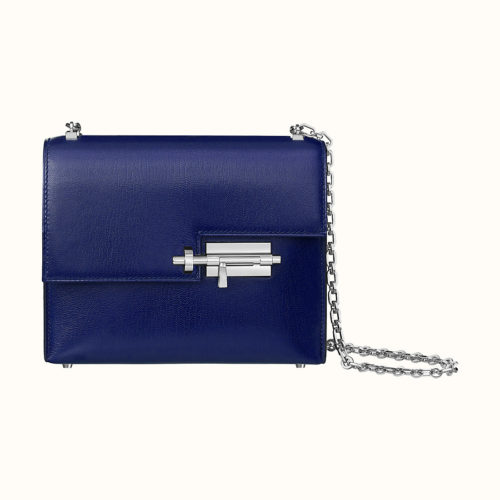 Verrou Chaine Mini Bag in Blue Encre. Photo courtesy of Hermes.com.