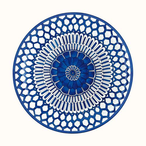 Bleus d'Ailleurs Round Platter, Large Model