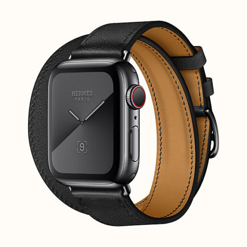 Apple Watch Hermès Series 5 Double Tour 40mm in Black