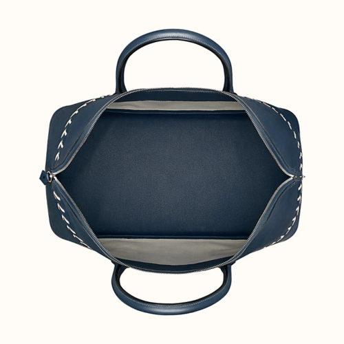 Bolide 1923 45cm Baseball Bag in Blue, Interior View