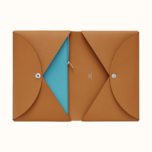 Calvi Pouch in Gold and Blue du Nord