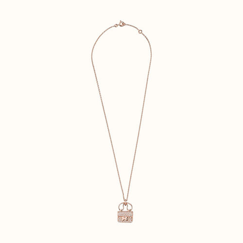 Constance Amulette Pendant in Rose Gold with Diamonds