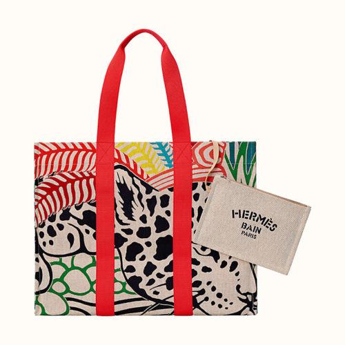 Beach bag in Jagual Quetzal Print