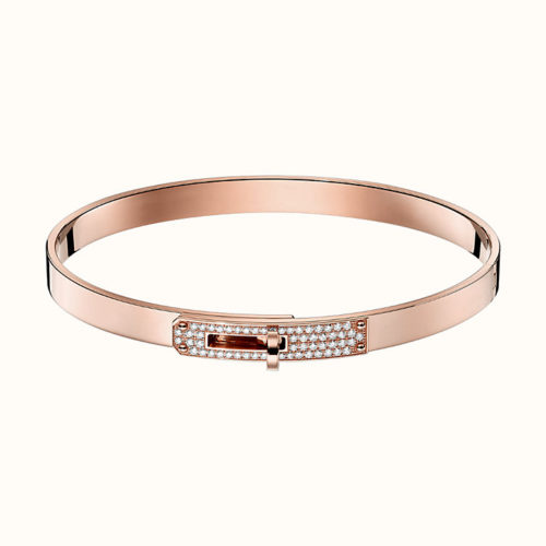 Kelly Bracelet in Rose Gold with Diamonds on the Front