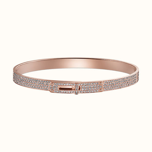 Kelly Bracelet in Rose Gold with Diamonds Around
