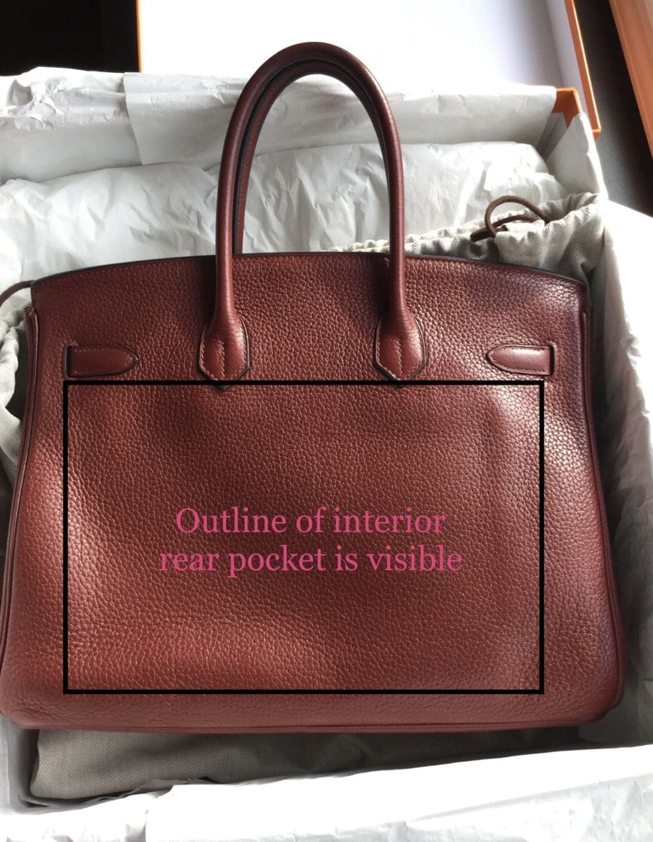 Used 35cm Birkin in Rouge H Clemence