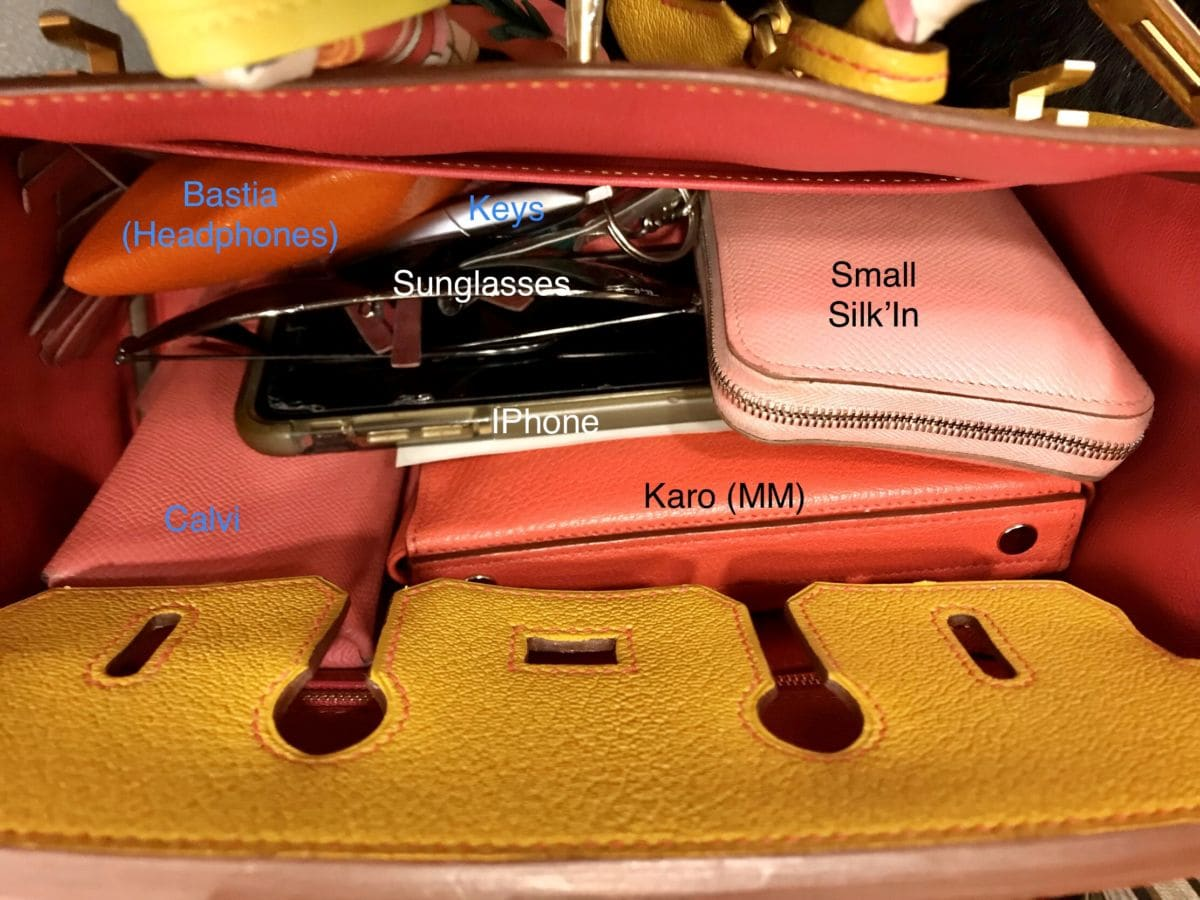 Keeping the Interior of my 25cm Birkin Organized