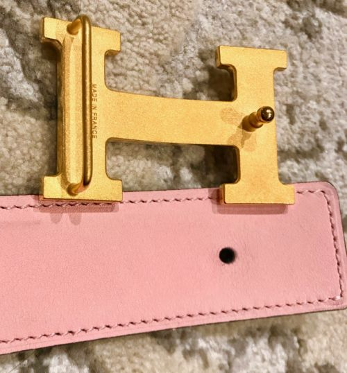 The buckle and the strap are separate and easily put together.