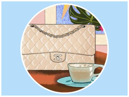 4 Coffee and Designer Bag Pairs