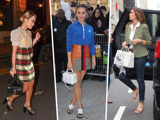 Celebs Round Out Paris Fashion Week with Louis Vuitton, Miu Miu & More