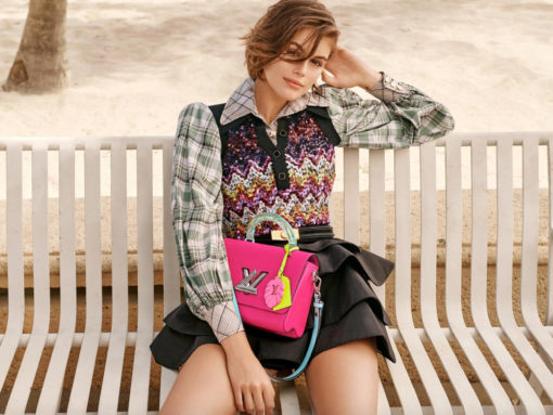 Kaia Gerber Stars Alongside New Twist Bags in Louis Vuitton's Latest Ad Campaign