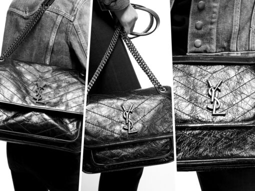 Currently Coveting: YSL Niki Bags with Tonal Leather Encased YSL Monogram