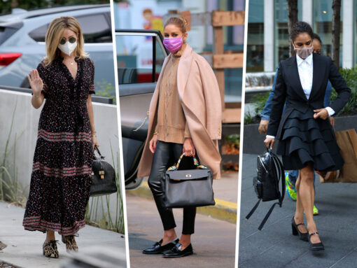 Celebs Accessorize With Masks and Carries from Balenciaga and Louis Vuitton