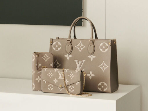 Louis Vuitton Expands On Its Monogram Empreinte Line for Fall 2020