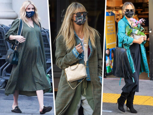 Celebs Head Out With New Louis Vuitton and Loewe (and Masks All Around!)