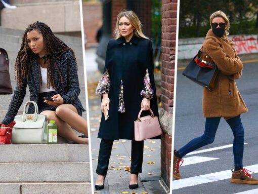 Celebs Enjoy Fall Weather With Picks From Louis Vuitton, Tory Burch and Dior