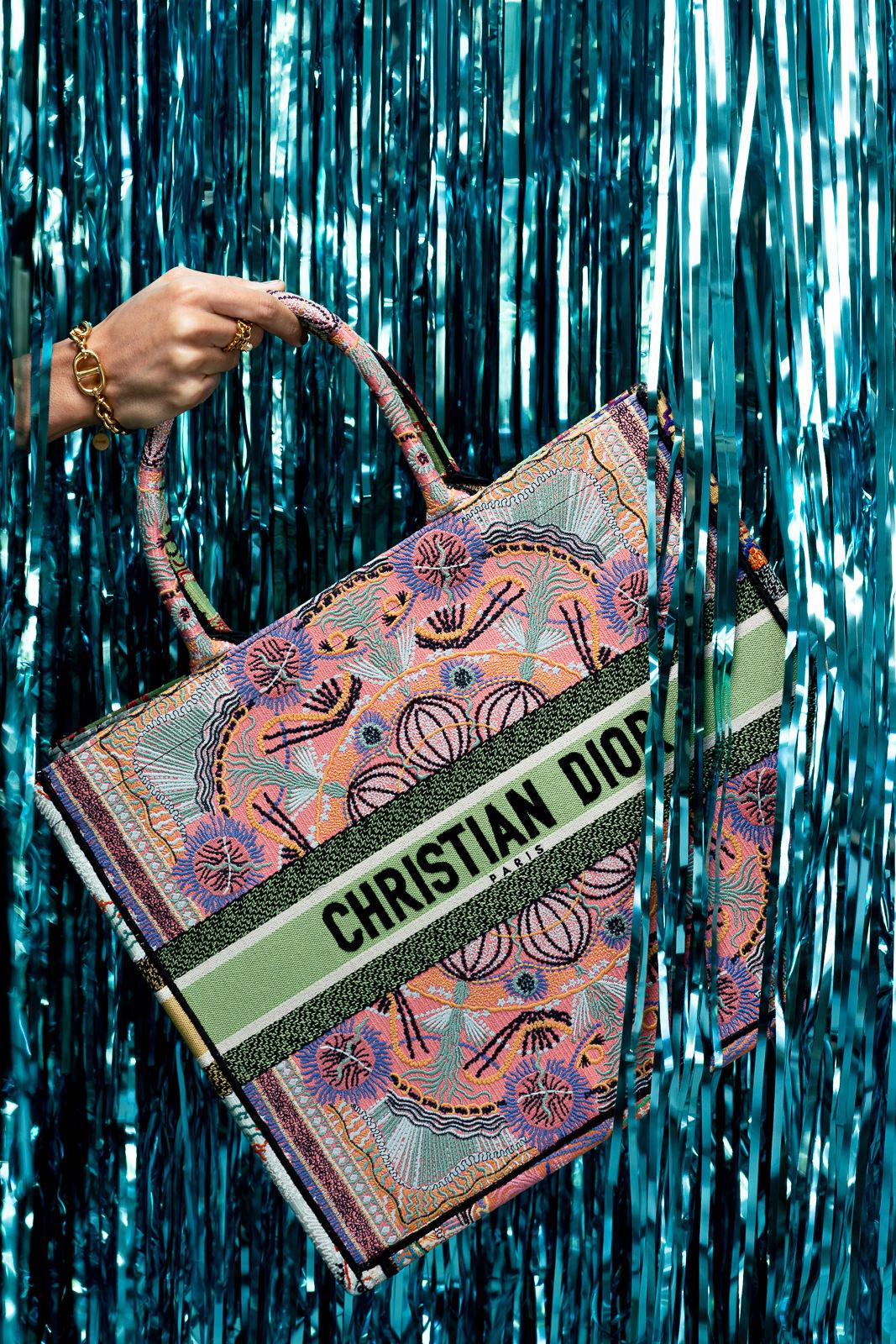 Dior Book Tote Multicolor Dior In Lights Embroidery