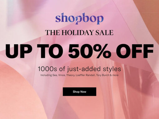 The ShopBop Holiday Sale Is Now Live
