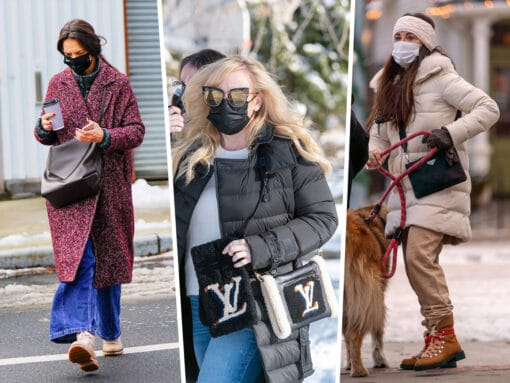 Celebs Bundle Up With Picks From Louis Vuitton, Prada and Celine