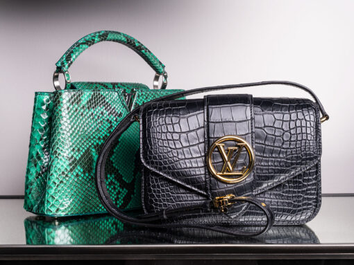 A Look at One-of-a-Kind and Rare Louis Vuitton Exotic Bags