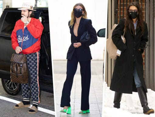 Celebs Brave the Cold With Bags from Gucci, Fendi and More