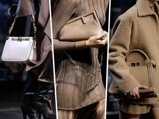Fendi Showcases New Shapes Alongside Its Iconic Bags for Fall 2021