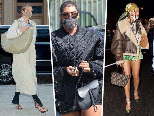 Celebs Show Off Bags From Dior, Bottega Veneta and More