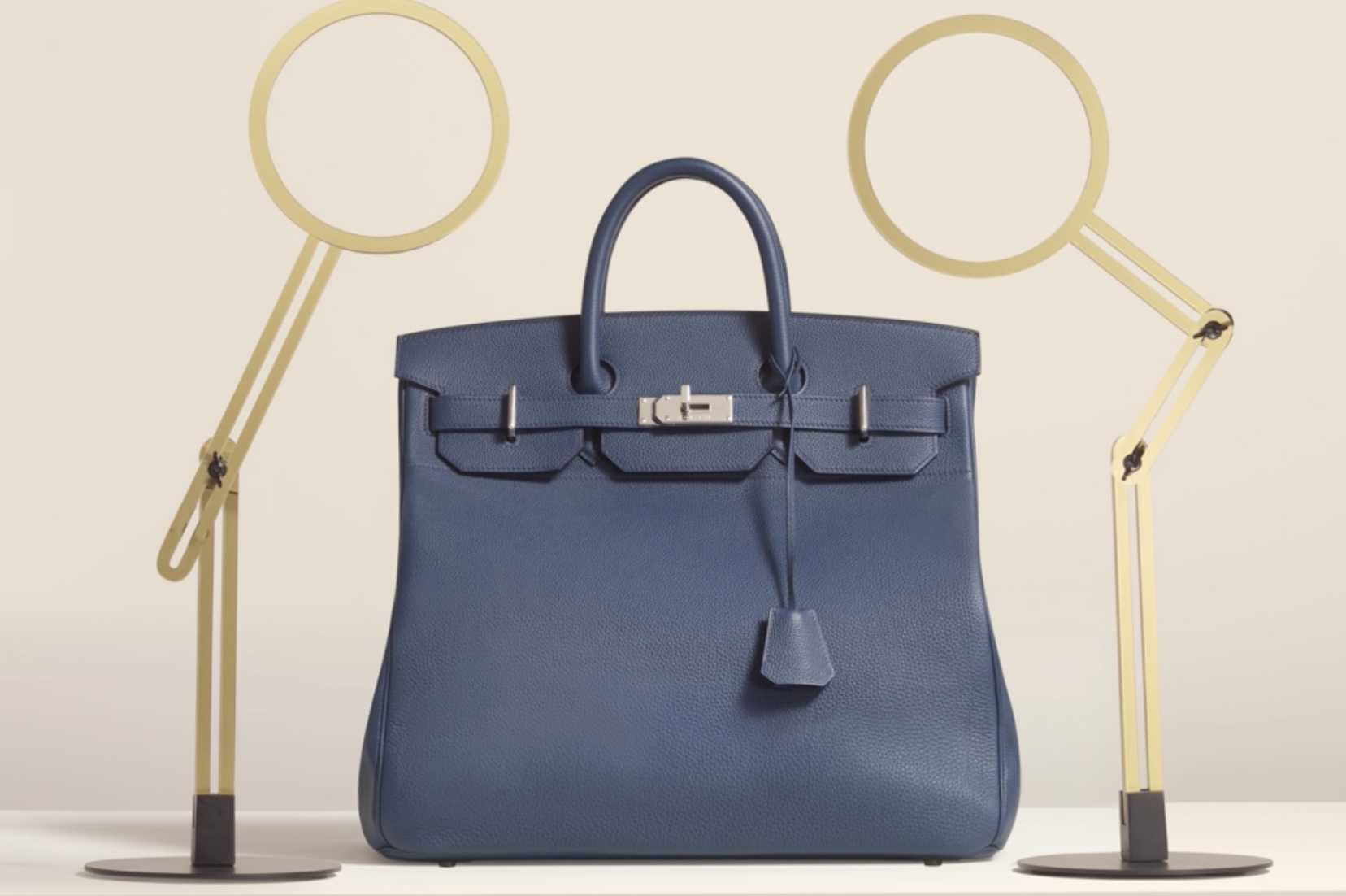The Haut À Courroies (HAC) which is similar to the Birkin with some differing proportions. Photo via Hermes.com