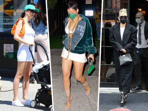 Celebs Wow Us With Colorful Bags from Louis Vuitton and By Far Amidst a Sea of Neutrals