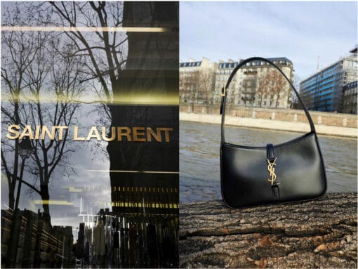 Saint Laurent Sticks to Its Core Logo DNA With Latest Shoulder Bag