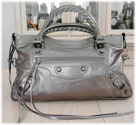 Balenciaga City Motorcycle Bag Pewter