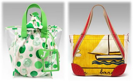 Juicy Couture Zuma Beach Tote and Prada Canvas Tote